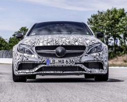 2015 Mercedes-AMG C 63 Coupe in final testing. Image by Mercedes-AMG.