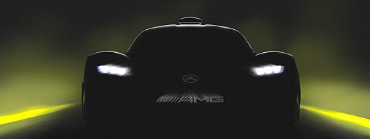 Mercedes-AMG Project One teased. Image by Mercedes.