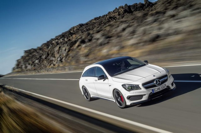 First drive: Mercedes-Benz CLA 45 AMG Shooting Brake. Image by Mercedes-Benz.