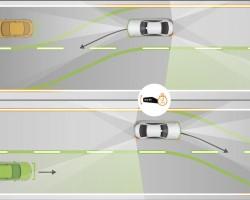 Mercedes-Benz Active Lane Change Assist. Image by Mercedes-Benz.
