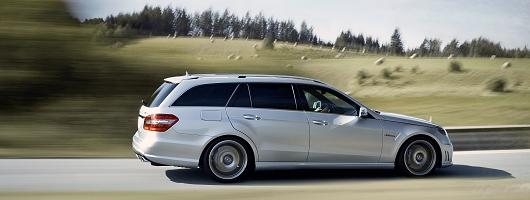 First drive: Mercedes-Benz E 63 AMG Estate. Image by Mercedes-Benz.