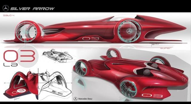 2011 Mercedes Benz Silver Arrow Concept. Image By Mercedes Benz.