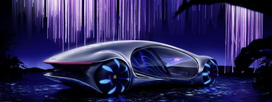 <i>Avatar</i> inspires Mercedes CES show car. Image by Mercedes AG.