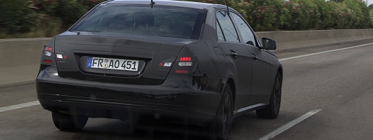 New 'Benz E-Class spied in Spain. Image by Kyle Fortune.
