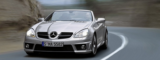 Mercedes SLK in facelift and power upgrade. Image by Mercedes-Benz.