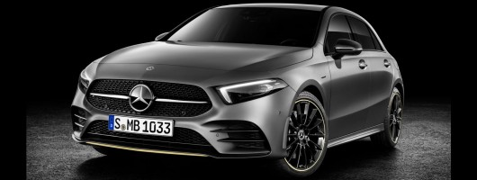 New Mercedes-Benz A-Class steps out. Image by Mercedes-Benz.