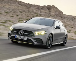 New A-Class on the road. Image by Mercedes.