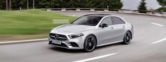 Mercedes announces pricing of A-Class saloon. Image by Mercedes-Benz.