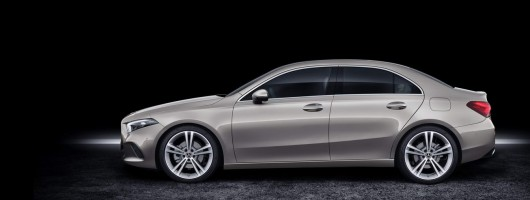 Mercedes A-Class Saloon complements CLA. Image by Mercedes-Benz.