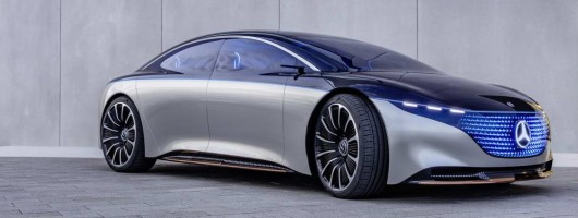 Mercedes Vision EQS: an EV S-Class. Image by Mercedes-Benz.