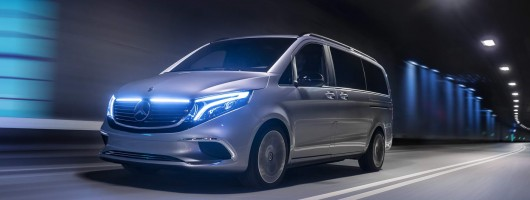 Mercedes plans all-electric V-Class. Image by Mercedes-Benz.