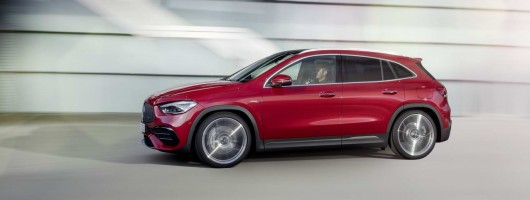 AMG power from the off for new Mercedes GLA. Image by Mercedes.