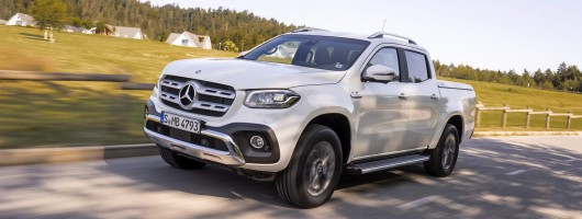 First drive: Mercedes-Benz X 350 d pickup. Image by Mercedes-Benz.