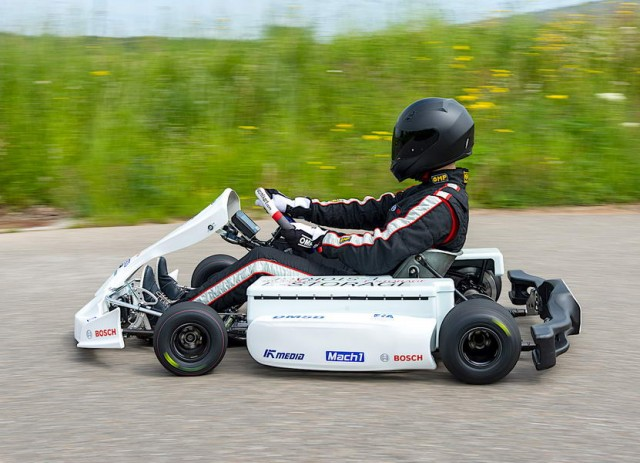Karting goes electric. Image by Bosch.