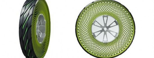 New airless tyre concept. Image by Bridgestone.