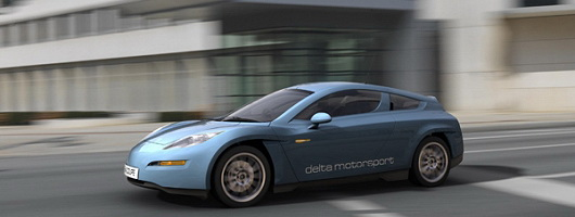Delta electric sports car launched. Image by Delta.