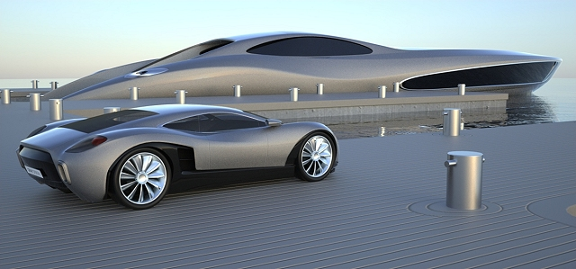 Supercar for super yacht. Image by Gray Design.