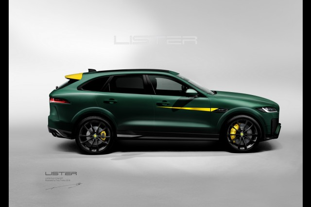 Lister storms into the performance SUV market. Image by Lister.