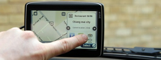 TomTom Go Live 825 on test. Image by Graeme Lambert.