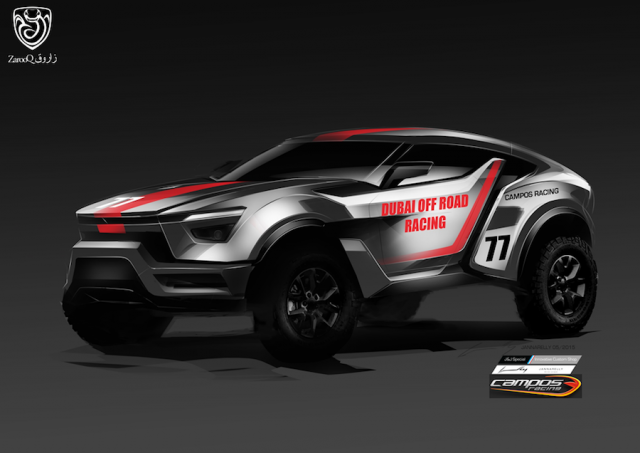Zarooq Sand Racer revealed. Image by Zarooq.