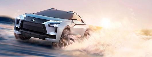 Mitsubishi revives Evo name for EV concept. Image by Mitsubishi.