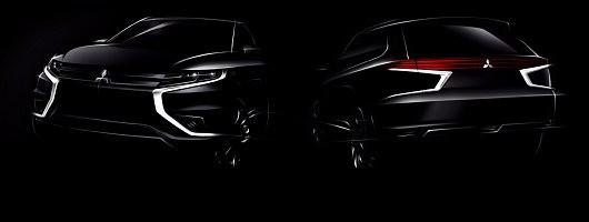 Mitsubishi teases new Outlander. Image by Mitsubishi.