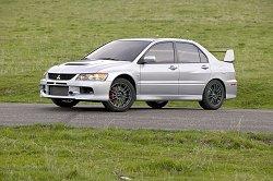 2005 Mitsubishi Lancer Evolution IX. Image by Mitsubishi.