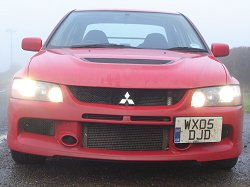 2005 Mitsubishi Lancer Evolution IX FQ-340. Image by James Jenkins.