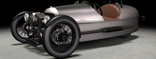 Three-wheeled Morgan returns. Image by Morgan.