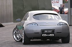 The Jaguar RD-6 concept car made a surprising entry at the Motropolis Show. It looked great. Image by Mark Sims.