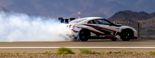 Nissan GT-R sets 190mph drifting record. Image by Nissan.
