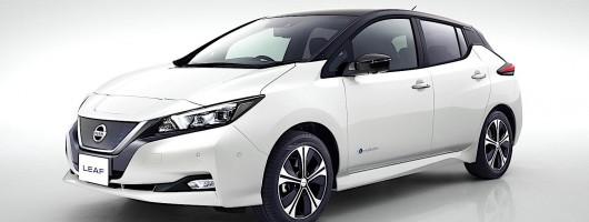 Nissan debuts longer-range, sharper-looking Leaf. Image by Nissan.