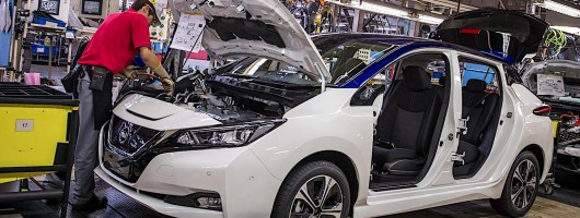 Nissan confirms Leaf production in UK. Image by Nissan.