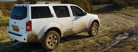 Off Roading In The Nissan Pathfinder. Image By Nissan.