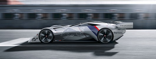 750hp hybrid concept is Peugeot's PlayStation racer. Image by Peugeot.