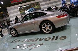 The Porsche stand featured the 997 model 911 - its first show outing. Image by Shane O' Donoghue.