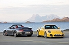 New Porsche 911 Turbo blows in. Image by Porsche.