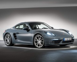 Porsche 718 Cayman moves to four-pot power. Image by Porsche.