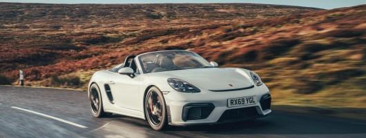 First drive: Porsche 718 Spyder. Image by Porsche UK.