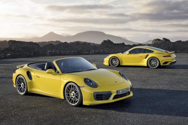 Porsche 911 Turbo models get even faster. Image by Porsche.