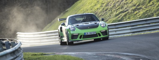 Porsche 911 GT3 RS rips round the Ring. Image by Porsche.