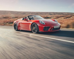Porsche 911 Speedster driven. Image by Porsche UK.