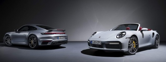 Thunderous 992 Porsche 911 Turbo S arrives. Image by Porsche AG.