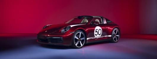 Heritage special for 992 Porsche Targa. Image by Porsche AG.