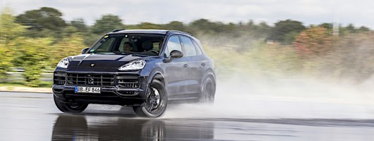 2018 Porsche Cayenne Turbo ride. Image by Porsche.
