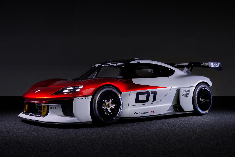 Porsche reveals electric Mission R race-car concept. Image by Porsche.