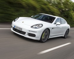 Passenger ride in new plug-in hybrid Porsche. Image by Porsche.