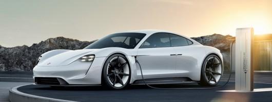Tech details of the Porsche Taycan revealed. Image by Porsche.