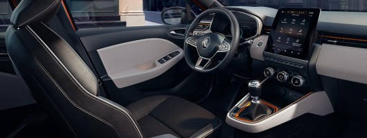 Renault pushes Clio Mk5's cabin upmarket. Image by Renault.