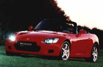 The gorgeous S2000 as it will be sold in the UK (with right-hand drive)